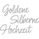 Stanzschabl.: Silberne, Goldene Hochzeit, 3 Stück