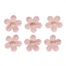 Deko-Sticker: Papierblüten m. Halbperle, rosé, 20