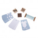 Baby gift set, baby blue,