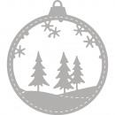 Stanzschablone: karácsonyi labda, 1 db