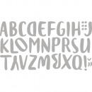 Plantilla de estampación. Set: alfabeto de acuarel