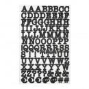 Naklejka ABC, FSC MixCred, czarna, 4-arkusz