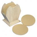 Großhandel Geschenkartikel & Papeterie: Holz Box FSC Mix Credit, 10cm ø,