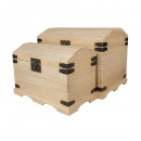 Wooden chests set, 2 sizes,