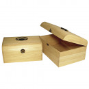 Wooden case with antique fitting,