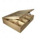 Caja de té de madera, 12 compartimentos, ...