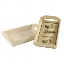 Wood Tray Set, FSC Mix Credit,