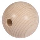 Raw wood balls FSC100% half drilled, 40mm ø, 2 pie