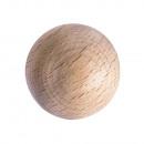Raw wood balls FSC 100%, 35mm ø, 3 pieces