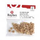 Raw wood hemispheres FSC 100%, 8mm ø, 40 pieces