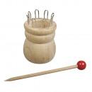 Wooden knitting nappy m.Nadel, 4, 4cmø FSC100%, 1