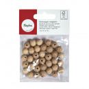 Raw wood balls FSC100% half drilled, 20mm ø, 10 pi