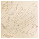 Wooden hanger bird paradise FSC 100%, 1 set