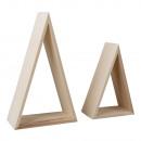 Holz-Rahmen, Dreieck, FSC Mix Credit, 2 Stück