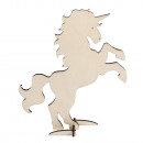 Wooden unicorn FSC 100%, to stand, medium brown,