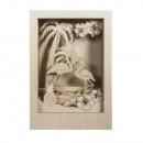 groothandel Woondecoratie: Houten constructie. 3D Motivr. Flamingo, ...