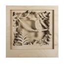 Wood construction. 3D motif frame toucan, FSC 100%