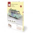 Wooden Kit 3D Campingbus, FSC 100%, natural, 1 set
