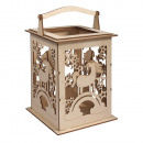 wholesale Wind Lights & Lanterns: Wood lantern unicorn m. Handle, FSCMixCred, natura