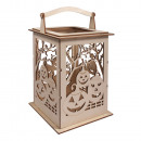 wholesale Wind Lights & Lanterns: Wood lantern pumpkin with handle, ...