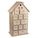 Holzbaus.Adventskalenderhaus, FSCMixCred., natur,