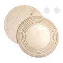Holzplatten/-ringe Set, FSCMixCred., natur, 1 Se