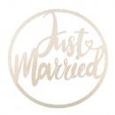 H kroon Just Married , FSCMixCred, 30cm ø, natuurl