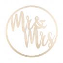 H-krans Mr & Mrs, FSCMixCred, 30cm ø, naturel,