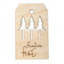 Houten hanger Happy Holidays, FSCMixCred, natuurli