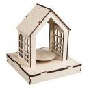 Wooden 3D kit house FSCMixCred, natural,