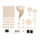 grossiste Decoration et jardin et eclairage: Kit de construction 3D en bois Wish Garden ...