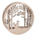 Wood wreath forest, FSC MixCredit, 30cm ø, natural