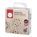 Handicraft package: wooden beads stars Classic, 8c