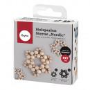 groothandel Home & Living: Handwerkpakket: houten kralen sterren Nordic 2x7cm