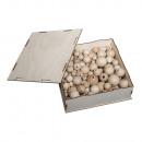 Rohholz-Kugeln Sammelbox, beige,