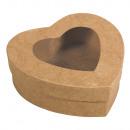 Paper mache Box Heart, FSC Recycled 100%,