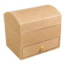 grossiste Boîtes et presentoirs bijoux: Boîte à bijoux en papier mâché, FSC Recyclé 100%,