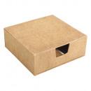 Pappmaché Box mit Notizzettel, FSC Rec. 100%,