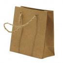 Papír maszk táska m. Juta láb, FSC 100%