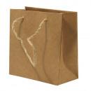 Paper mache bag m. Jute leg, FSC 100%,