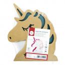 Paper mache light unicorn, FSC Rec.100%, power,