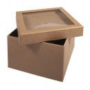 Paper mache box m. Pokrywa shakera, FSC Rec. 100%,