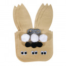 Paper Easter bunny bags incl. Accessories, kraft,