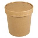 Coppa in cartone organico con coperchio, 300 ml, 4