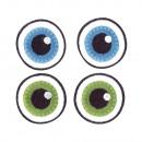 Stoffen strijkmotief Basic Eyes, 3 cm ø, 2 paar