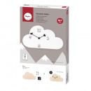 Handicraft kit: Wall clock cloud, FSC Mix Credit,