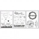 Window coloring pages spring & easter, 1 set
