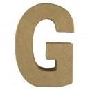 Lettera di cartapesta G FSC Recycled100%,