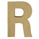Lettera di cartapesta R FSC Recycled100%,