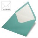 Square envelope, plain, FSC Mix Credit, turquoise,